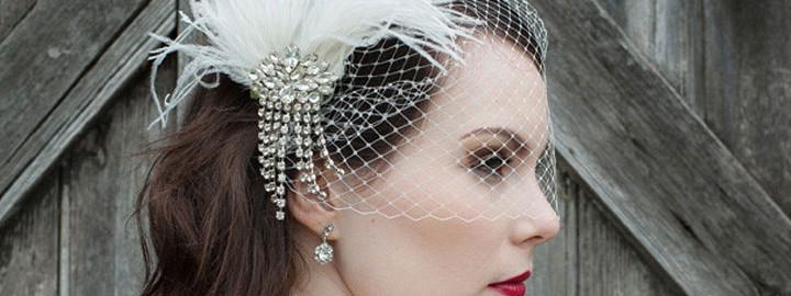 Haaraccessoires voor een winters bruidskapsel